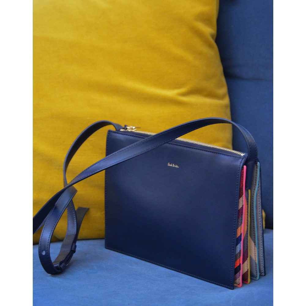 Paul Smith Accessories X Body Concertina Swirl Bag Navy