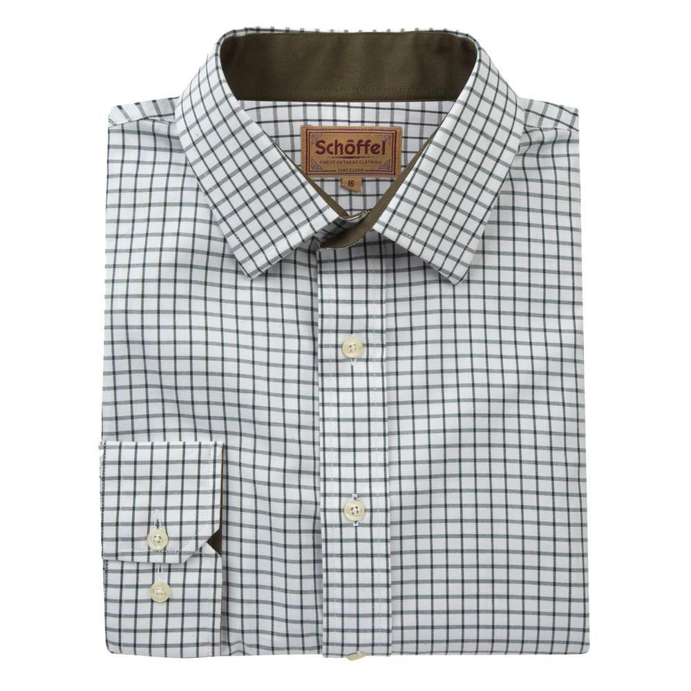 Schoffel Country Cambridge Check Shirt Dark Olive