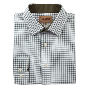 Cambridge Check Shirt Dark Olive