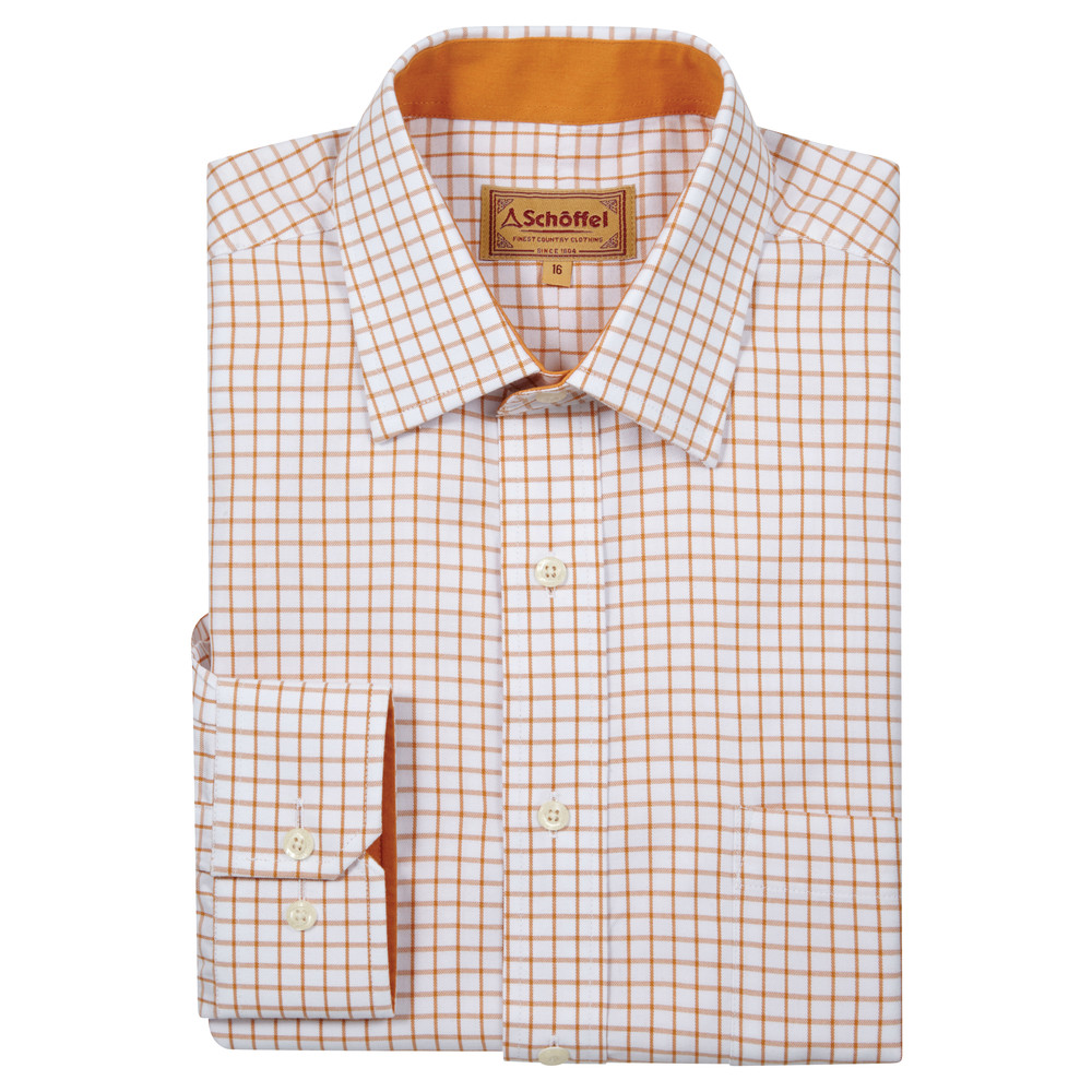 Schoffel Country Cambridge Check Shirt Ochre