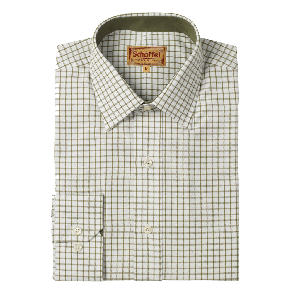 Schoffel Country Cambridge Check Shirt Olive
