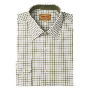 Schoffel Country Cambridge Check Shirt in Olive
