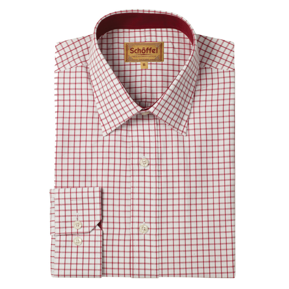 Schoffel Country Cambridge Check Shirt Red