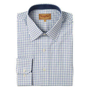 Schoffel Country Cambridge Check Shirt in Royal Navy