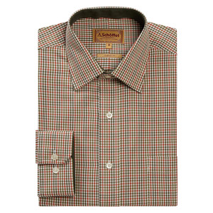 Burnham Tattersal Shirt Olive