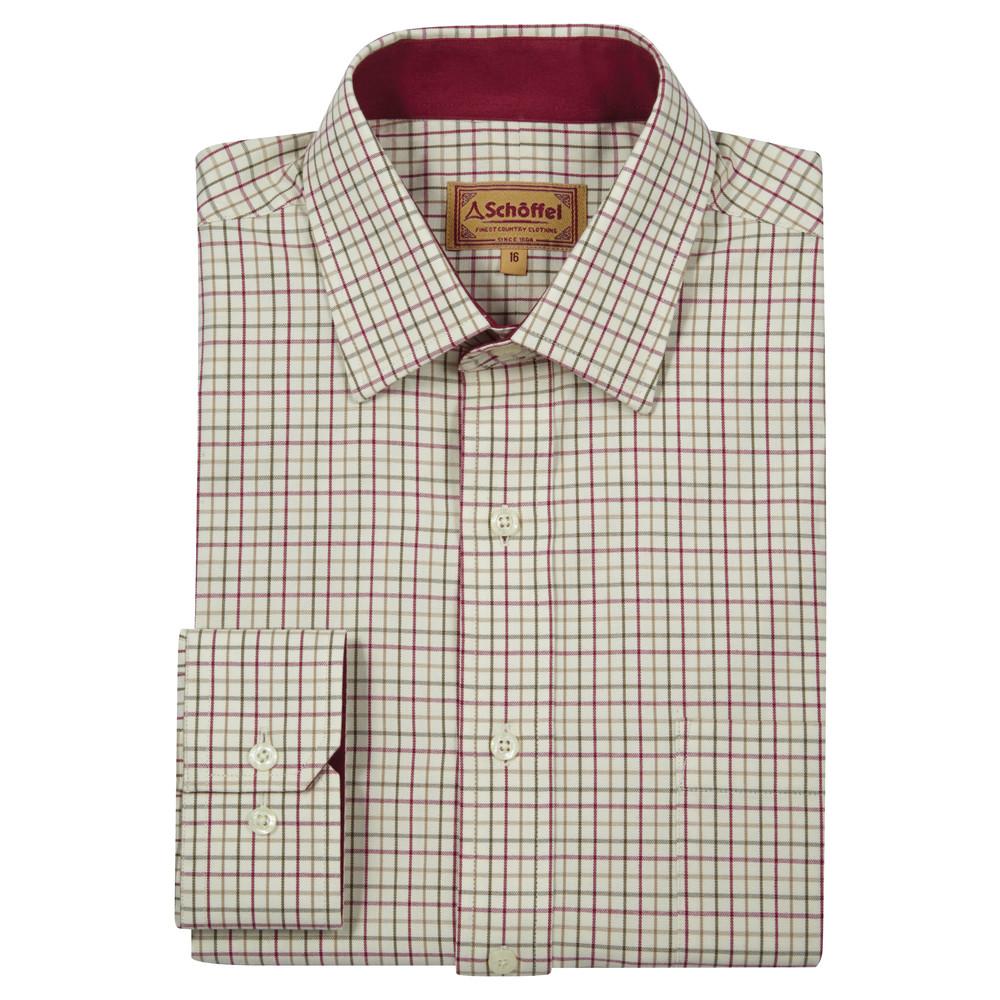 Schoffel Country Burnham Tattersal Shirt Red/Green Check
