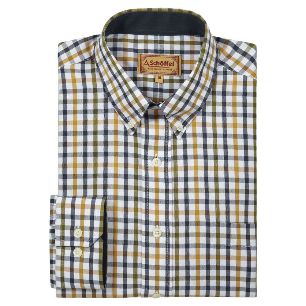 Schoffel Country Brancaster Shirt Olive Check