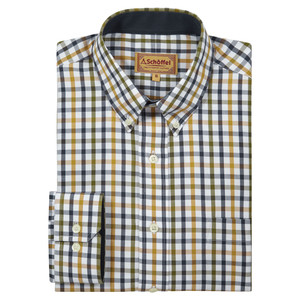 Schoffel Country Brancaster Shirt in Olive Check