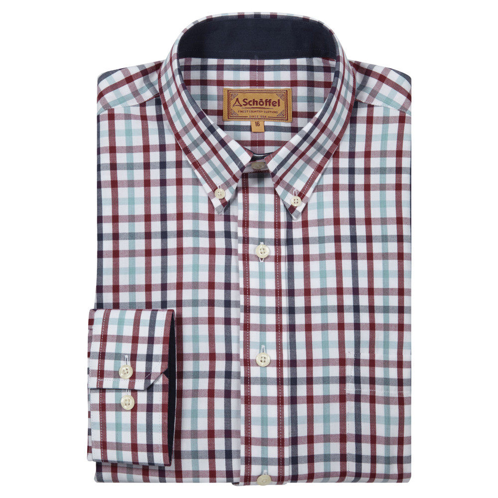 Schoffel Country Brancaster Shirt Sky Blue Check