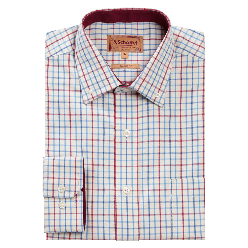 Schoffel Country Banbury Shirt Red/Denim