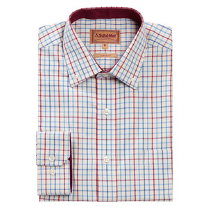 Schoffel Country Banbury Shirt in Red/Denim
