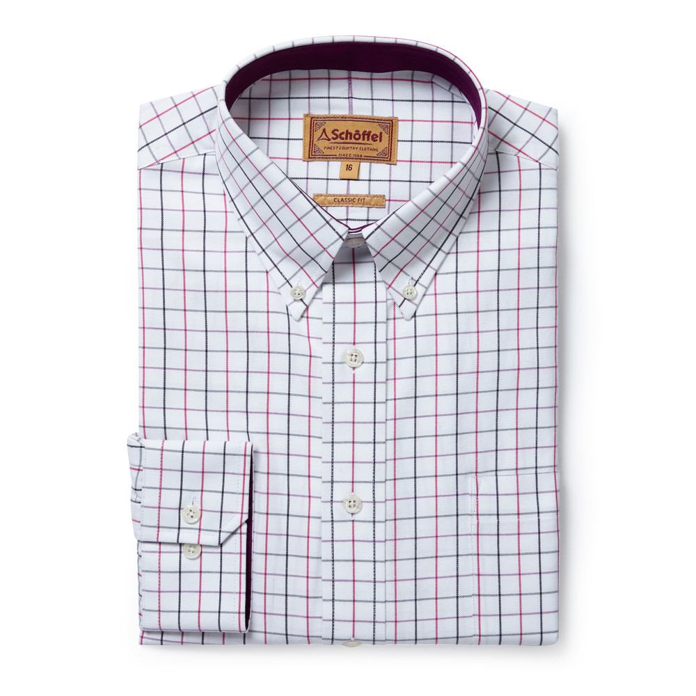 Schoffel Country Banbury Shirt Pink/Grey