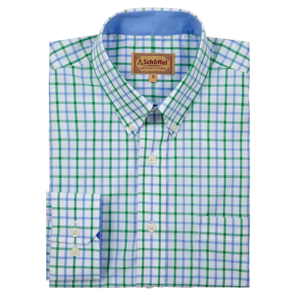 Schoffel Country Holkham Shirt Green Check