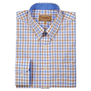 Schoffel Country Holkham Shirt in Ochre Check