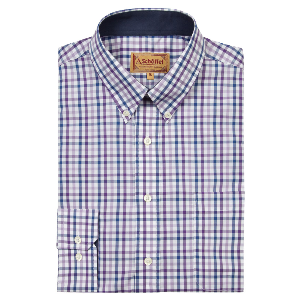 Schoffel Country Holkham Shirt Plum
