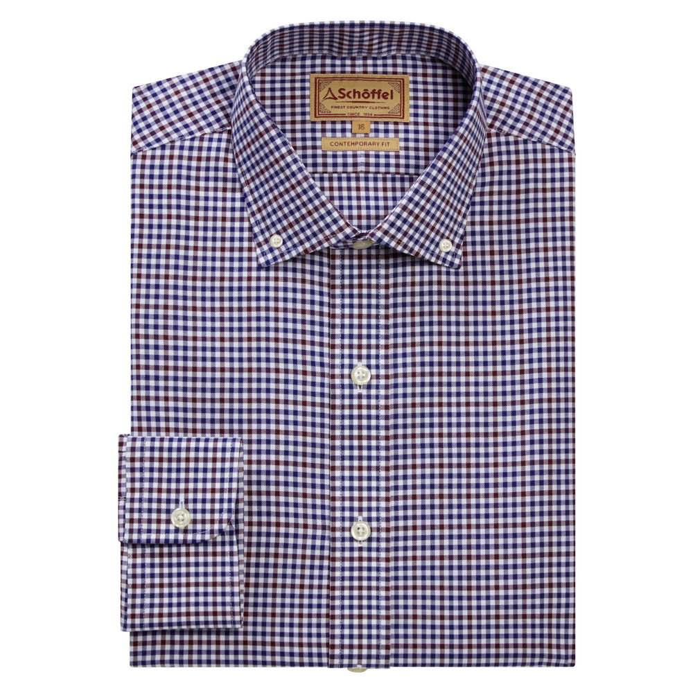 Schoffel Country Burnsall Shirt Navy-Fig Micro