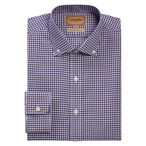 Schoffel Country Burnsall Shirt in Navy-Fig Micro