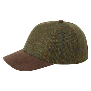Tweed Baseball Cap Sussex Tweed