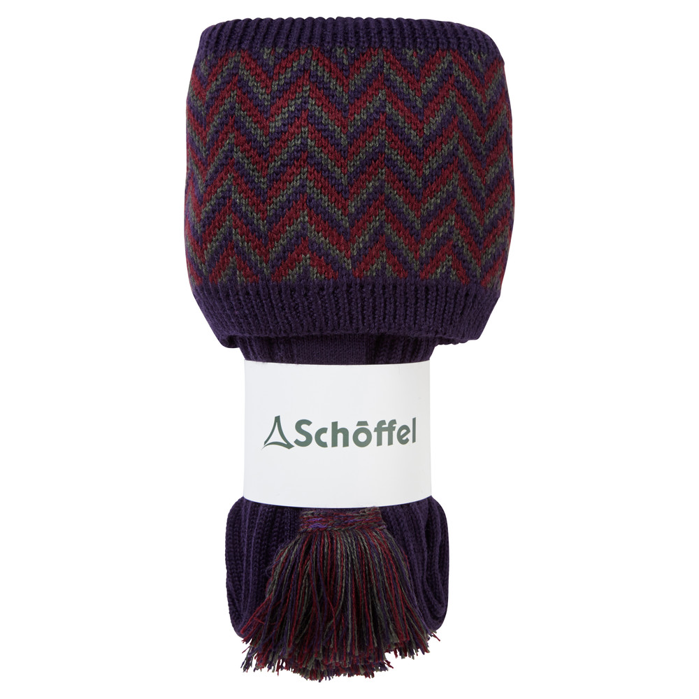 Schoffel Country Herringbone Sock Aubergine/Forest/Mulberry