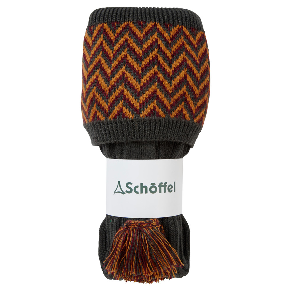 Schoffel Country Herringbone Sock Forest/Ochre/Mulberry