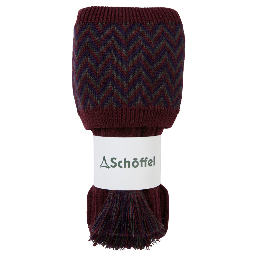 Schoffel Country Herringbone Sock Mulberry/Aubergine/Forest