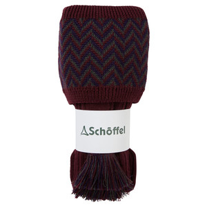 Herringbone Sock Mulberry/Aubergine/Forest