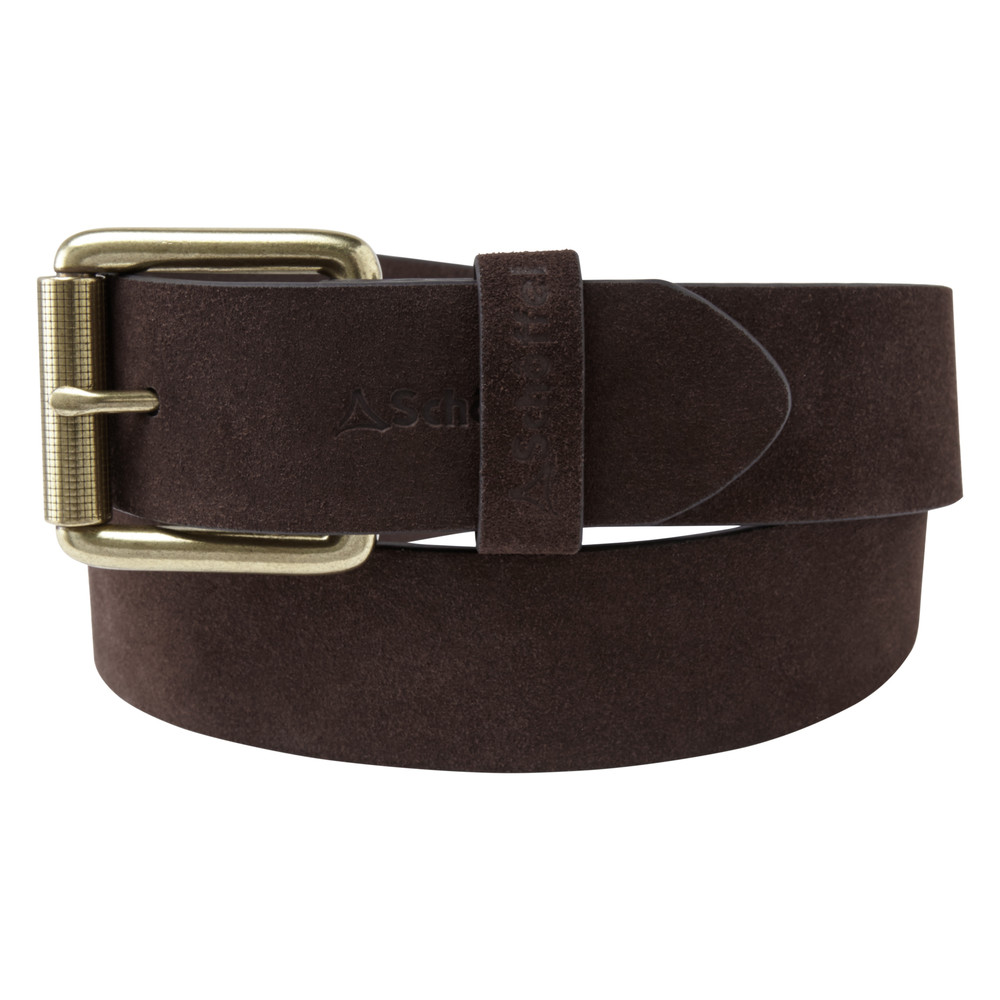 Schoffel Country Suede Belt Dark Brown