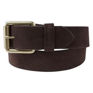 Suede Belt Dark Brown