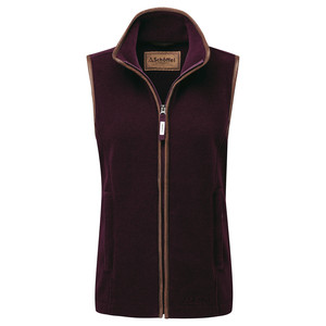 Schoffel Country Lyndon II Fleece Gilet in Fig
