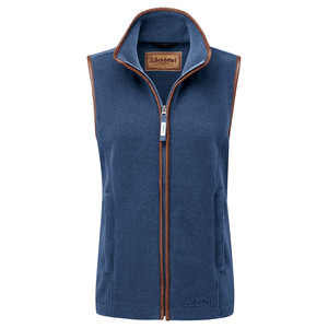 Schoffel Country Lyndon II Fleece Gilet in Denim