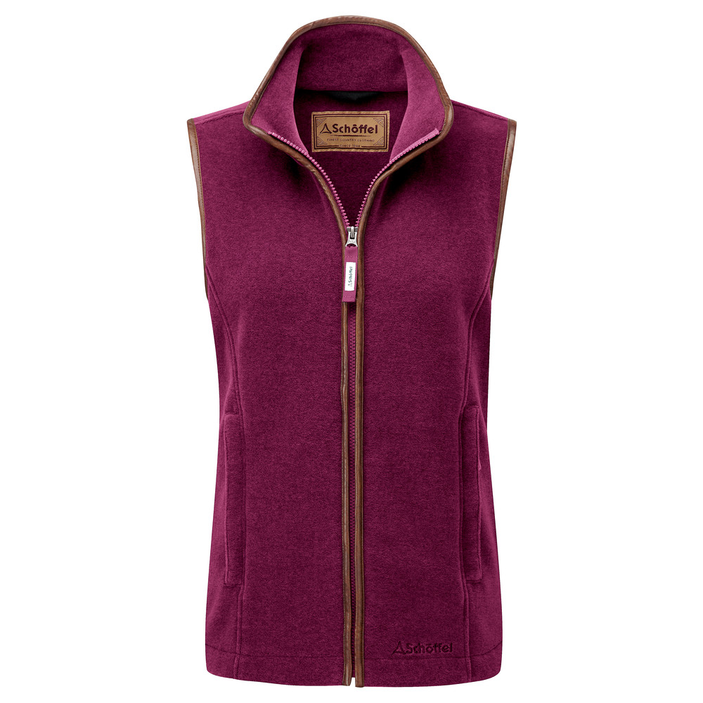 Schoffel Country Lyndon II Fleece Gilet Plum
