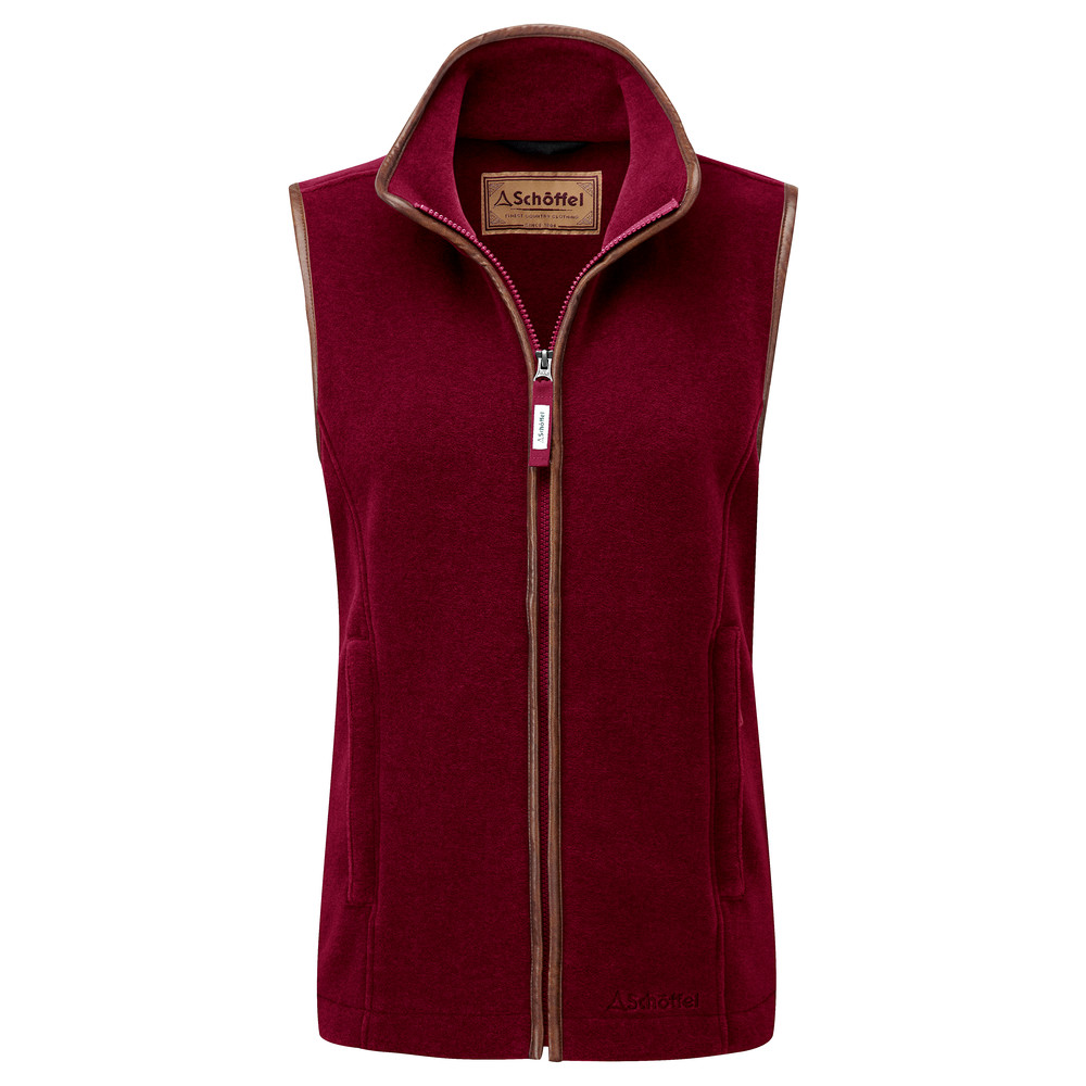 Schoffel Country Lyndon II Fleece Gilet Ruby