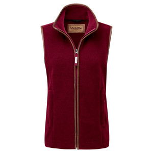 Lyndon II Fleece Gilet Ruby