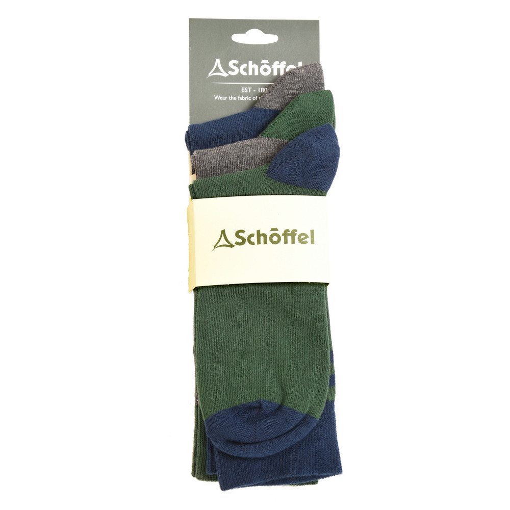 Schoffel Country Rock Sock Pack of 3 Navy Mix