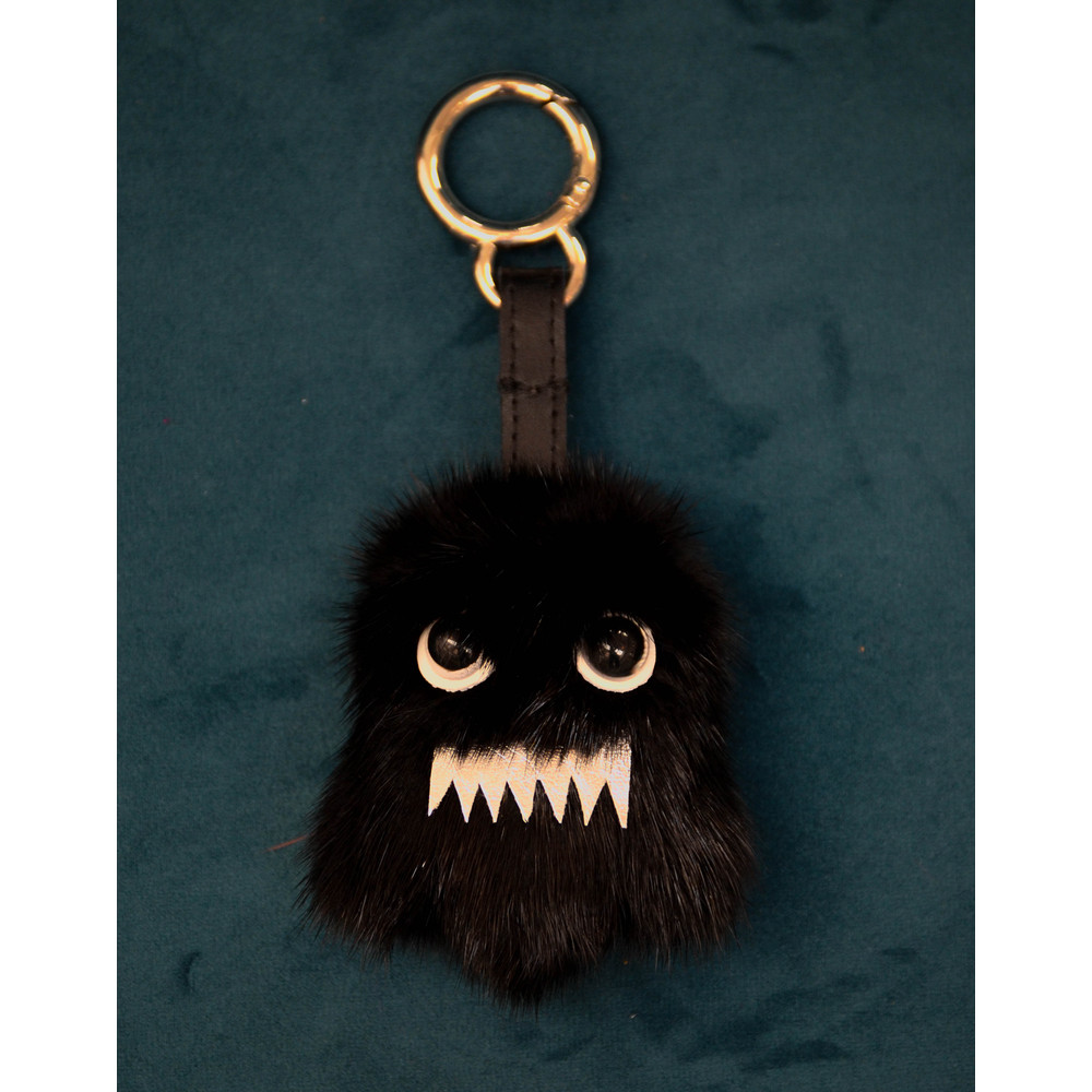 Bklyn Ghost Charm Keyring Black