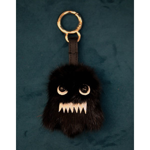 Ghost Charm Keyring Black