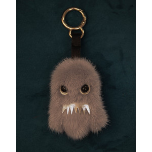 Bklyn Ghost Charm Keyring in Grey