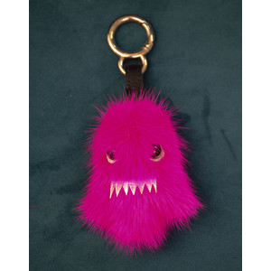 Bklyn Ghost Charm Keyring in Pink