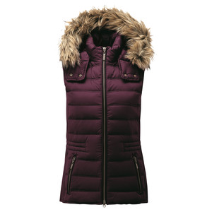 Chelsea Down Gilet With Hood Fig