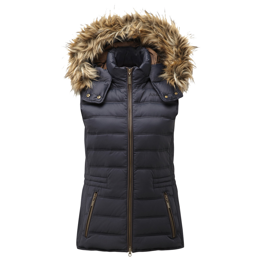 Schoffel Country Chelsea Down Gilet With Hood Navy Blue