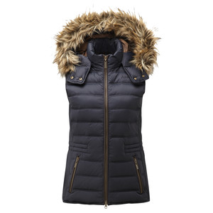 Schoffel Country Chelsea Down Gilet With Hood in Navy Blue
