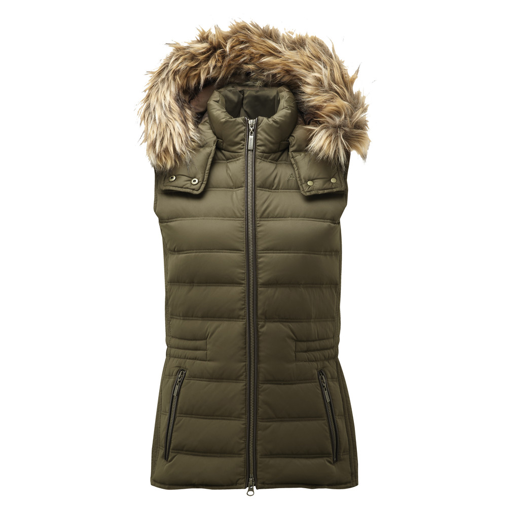 Schoffel Country Chelsea Down Gilet With Hood Olive