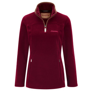 Schoffel Country Tilton 1/4 Zip Fleece in Ruby