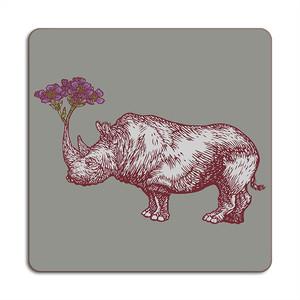 Rhino Placemat 24cm x 24cm Grey
