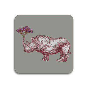 Rhino Coaster Grey