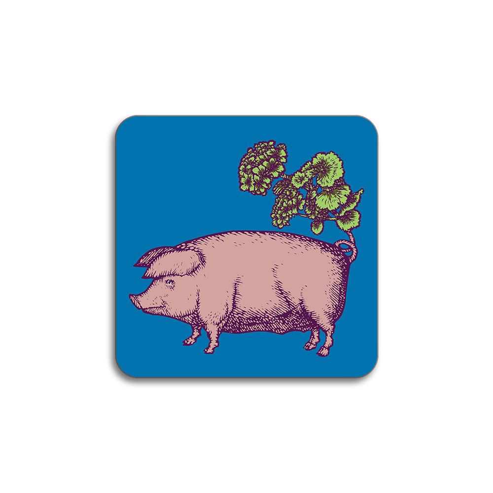 Avenida Home Pig Coaster Blue