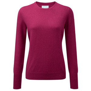 Cotton Cashmere Crew Raspberry