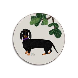 Dogs Dachshund Coaster Stone
