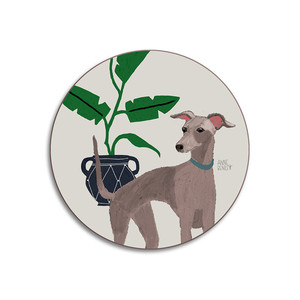 Dogs Whippet Coaster Stone