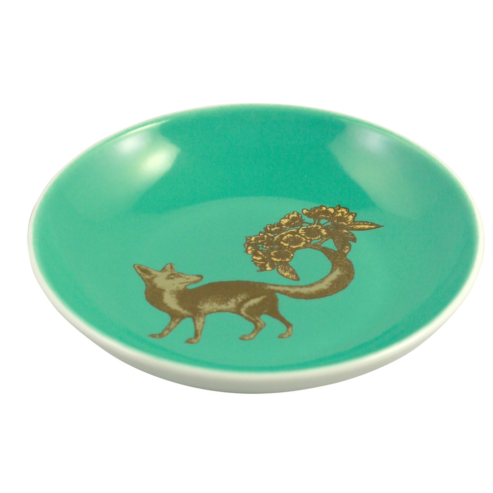 Avenida Home Fox Mini Plate Sea Green